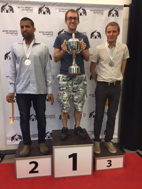 James Heppell (Gold), Ankush Khandelwahl (Silver) and Andres Kuusk (Bronze)